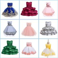 Dress Wedding Girl Flower Bridesmaid Princess Baby Party Dresses Kid Tutu Formal