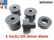 4pc Sorbothane Vibration Bushing Isolation Grommet 1 Inch 25.4mm diam 30 Duro
