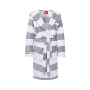 Bademantel Kids grau/weiß flauschig weich Kinder 26068 FC Bayern München Logo