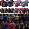 Herren Superheld  Spider-Man T-Shirt Kompression Sports Fitness Jersey Shirt Top