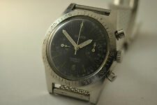 RARE MEN'S NIVOR VINTAGE CHRONOGRAPH WATCH WONDERFUL DIAL, 36 mm, val. 92