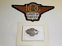 Ladies of Harley Harley Owners Group Patch 1995 Pin New Double Pinback-Lot of 2!