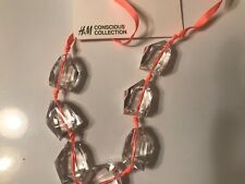 H&M FOR WATER CONSCIOUS TREND CRYSTAL NECKLACE  NWT
