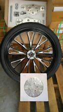 23 X 3.5 VCUT SD WHEEL KIT W RAKED TREES, BLK ROTORS 4 HARLEY TOURING 2000-07