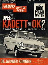 Auto Motor Sport 25 62 1962 Opel Kadett A Cony Coach Toyopet Crown Prince Gloria