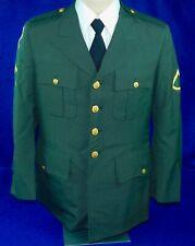 Vintage US Army Military Uniform Tunic Dress Jacket Coat