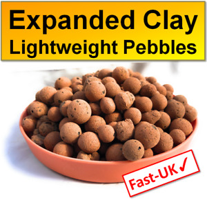 Clay Pebbles: Hydroponic LECA Lightweight Expanded Aggregate Pellet Balls 1,2,5L