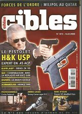 CIBLES N°373 MILIPOL AU QATAR / PISTOLET H&K USP EXPERT EN 45 ACP / BRNO ZK 99