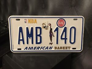 NBA - Detroit Pistons - Number Plate - Good Condition - 90s