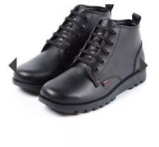 Nuevo Y En Caja Para Hombre Negro Cuero Kickers/Kick hisuma Tobillo Botas-Size UK 10, EUR 44