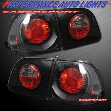 Set of 4pcs Black Altezza Taillights for 1999-2000 Honda Civic 4dr Sedan