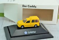 Rietze Volkswagen Caddy Cargo Van Yellow 1:87 Scale HO (HO3998)