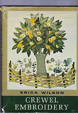 Crewel Embroidery Erica Wilson Book 1962 How Examples Stitches Designs Finishing