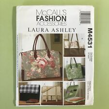 Uncut Laura Ashley Laptop Business Bags McCalls 4531 Accessories Messenger Lined