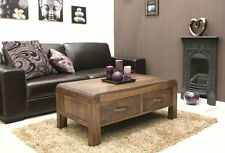 Baumhaus Solid Wood Coffee Tables with Drawers