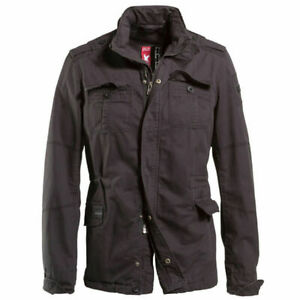 Surplus Jacket Delta Britannia Military Warm Outwear Mens Black