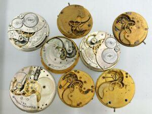 Elgin Pocket watch movement lot for parts lot b534