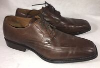 Johnston & Murphy Brown Leather 20-6460 Harding Panel Lace-up Oxfords Shoes Mens