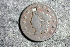 Estate Find 1830 - (HOLED) Coronet Head Large Cent!! #J14291