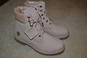 "Timberland Women's 6"" Premium Boot Light Pink/Metallic Collar Sz. 7 - NIB"