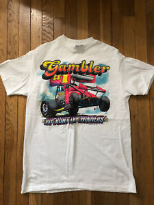 Kenny Rogers Gambler Sprint Car World Of Outlaws Vintage Shirt, Large
