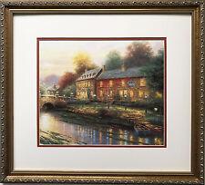 """Thomas Kinkade """"Lamplight Inn"""" Newly CUSTOM FRAMED Art Print PAINTER OF LIGHT"""