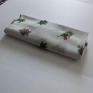 Vintage Oblong Christmas Holiday Ornament Decor Print Tablecloth