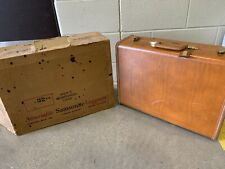 "SAMSONITE Vintage Shwayder Bros #4632 Brown Hard Suitcase Luggage 21"" x 15"" VG"