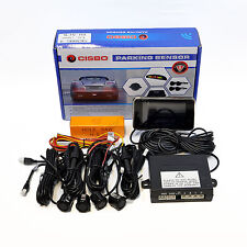 CISBO BLACK CAR REAR REVERSE PARKING SENSORS LED DISPLAY VOICE ALERT CANBUS KIT