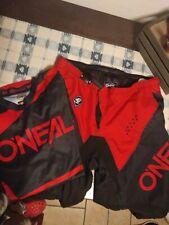 Completo cross O'Neall uomo tg xl/38 rosso e nero