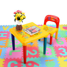 Kids Table Chair Set Play Letter Education Learning Activity Table And Chair