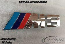 BMW M3 Trasero Placa Cromo Tronco Emblema 3 serie M3 E46 E90 E91-vendedor de Reino Unido -