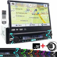 Single Din GPS Navigation Radio Car Stereo 7