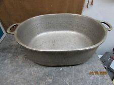 vintage century silver seal hammered aluminum roaster pan O