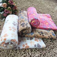 New listing Pet Dog Puppy Cat Paw Print Fleece Warm Blanket Soft Bed Towel Rug Mat Cushion