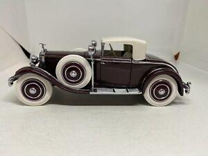 Franklin Mint 1:24 1925 Hispano-Suiza H6B Kellner Burgundy & White