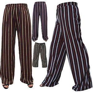 Striped Trousers Women long Pants Wide Leg yoga baggy stripy trouser stripes