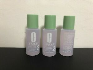 x3 Clinique Clarifying Lotion 2 Dry Combintion 1 oz Each Travel Size