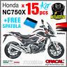 15 kit ADESIVI Rosso Nero compatibile con Honda NC 750 X 2011 2015 NC750 moto