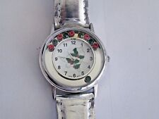 Lady's Christmas Watch  Silver Band  Fresh Battery