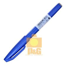 Pentel Pentel Fude Touch Brush Sign Pen Ses15c Calligraphy Sketching Art / Blue