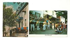 LOT OF 2 RUE ST. DENIS STREET, MONTREAL, QUEBEC, CANADA CHROME POSTCARDS   L-109