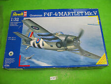 vintage model kit boxed 1/32 revell aircraft grumman F4F-4 martlet mkV 1017