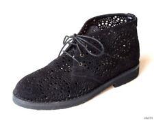 new $1150 ALAIA black suede lasercut ANKLE BOOTS shoes 36 US 6 - gorgeous