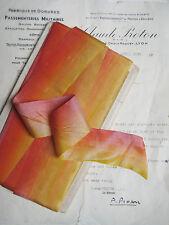 "1 yard Vintage French Orange/Yellow Ombre Silk Ribbon Flowers  1 5/8"""