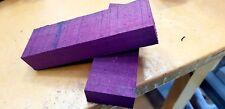 KNIFE BLANK - Purpleheart Wood Knife Handle Scales x 2 - Knife Making