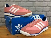 ADIDAS LADIES UK 5 1/2 EU 38 2/3 PINK BLUE SL 72 SUEDE TRAINERS RETRO LB