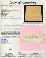 Mel Ott Jsa Coa Autograph Hand Signed 1930`s Album Page