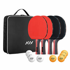 Table Tennis Paddles Set with 4 Paddles 8 Balls Carrying Bag for Sport Beginner