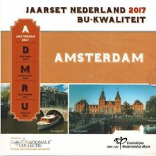 """2017 Netherlands 8-Coin Standard Brilliant Uncirculated Coin Set """"Amsterdam"""""""